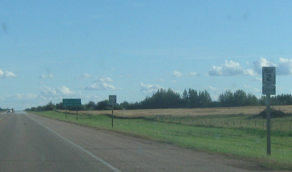Alberta Highway 2, AB-18 to AB-651 « Corco Highways