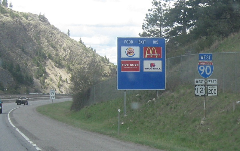 Montana Highway 200, I-90/US-12 to I-90 Bus/US-12 « Corco